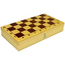 Шахматы пластмассовые в деревянной упаковке (290x150x47)