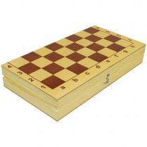 Шахматы и шашки пластмассовые в деревянной упаковке (290x150x48)