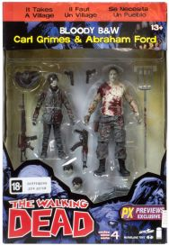 Walking Dead: Carl and Abraham (фигурки 17 см)