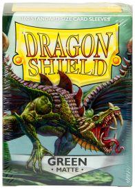 Протекторы Dragon Shield (100 шт., 63х88 мм): зелёные матовые