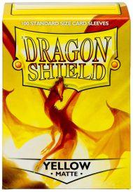 Протекторы Dragon Shield (100 шт., 63х88 мм): жёлтые матовые