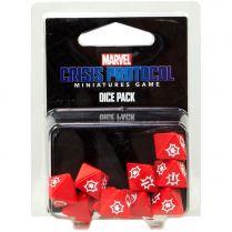 Набор кубиков Marvel Crisis Protocol, 10 шт., красные
