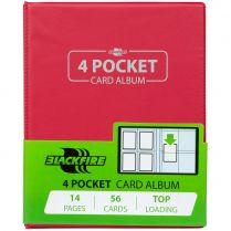 Альбом Blackfire (с листами по 2x2 кармашка): Красный