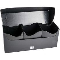 Пластиковая коробочка Blackfire для трёх колод - Чёрная (240+ карт)
