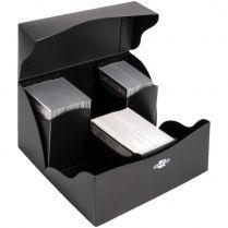 Пластиковая коробочка Blackfire Trio для трёх колод - Чёрная (240+ карт)