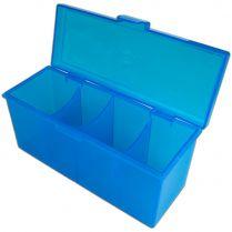 Пластиковая коробочка Blackfire для четырёх колод - Синяя (320+ карт)