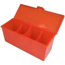 Пластиковая коробочка Blackfire для четырёх колод - Красная (320+ карт)