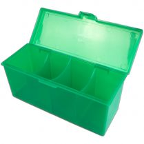 Пластиковая коробочка Blackfire для четырёх колод - Зелёная (320+ карт)