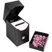 Пластиковая коробочка Blackfire с отделением для кубов - Чёрная (80+ карт)