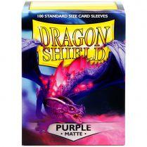 Протекторы Dragon Shield (100шт., 63х88 мм): фиолетовые матовые