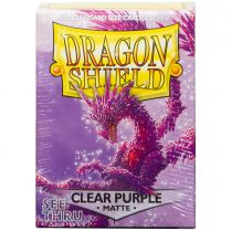 Протекторы Dragon Shield (100 шт., 63х88 мм): прозрачные матовые пурпурные