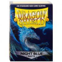 Протекторы Dragon Shield (100 шт., 63х88 мм): матовые темно-синие