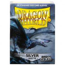Протекторы Dragon Shield Non-Glare (100 шт., 63х88 мм): матовые серебряные