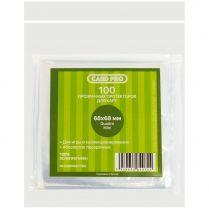 Протекторы Card-Pro прозрачные (100 шт., 68x68 мм)