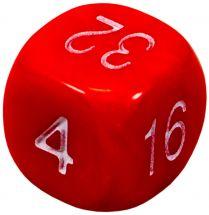 Удвоенный кубик, 16 мм, красный