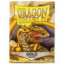 Протекторы Dragon Shield (100 шт., 63х88 мм): золотые матовые