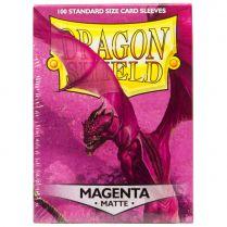 Протекторы Dragon Shield (100 шт., 63х88 мм): пурпурно-красные матовые