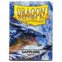 Протекторы Dragon Shield (100 шт., 63х88 мм): сапфировые матовые