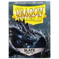 Протекторы Dragon Shield (100 шт., 63х88 мм): тёмно-серые матовые
