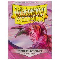 Протекторы Dragon Shield (100 шт., 63х88 мм): матовые розовые