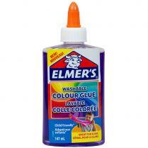 Клей Elmers Clear для слаймов: фиолетовый полупрозрачный