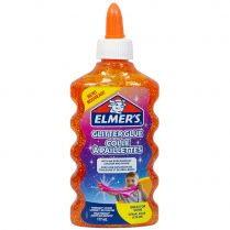 Клей Elmers Glitter для слаймов: оранжевый