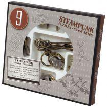 Набор из 9 головоломок Steampunk Puzzles (серый)