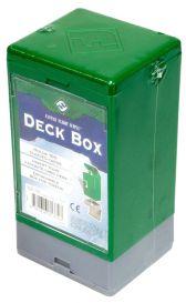 Коробочка на 100 карт в протекторах (25x35 мм): зеленая
