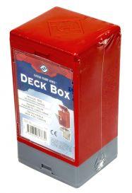 Коробочка на 100 карт в протекторах (25x35 мм): красная