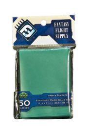 Протекторы для настольных игр (50шт., 63,5x88 мм): зеленые