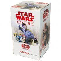 Star Wars Destiny: Legacies Booster Packs - дисплей бустеров на английском языке