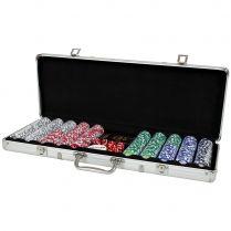 Набор из 500 фишек для покера с номиналом