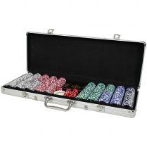 Набор из 500 премиальных фишек для покера с номиналом