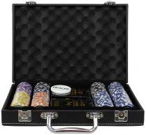 Фабрика Покера: Премиум-набор из 200 фишек для покера с номиналом в кожаном кейсе