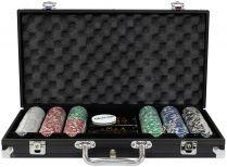 Фабрика Покера: Набор из 300 фишек для покера с номиналом в черном кейсе