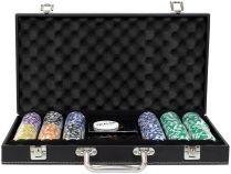 Фабрика Покера: Премиум-набор из 300 фишек для покера с номиналом в кожаном кейсе