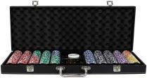 Фабрика Покера: Премиум-набор из 500 фишек для покера с номиналом в кожаном кейсе