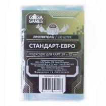 Протекторы GaGa (100 шт., для карт 59x92 мм): стандарт-евро