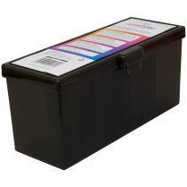 Пластиковая коробочка с четырьмя отсеками Gamegenic Fourtress (чёрная, на 320 карт в двойных протекторах)