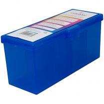 Пластиковая коробочка с четырьмя отсеками Gamegenic Fourtress (синяя, на 320 карт в двойных протекторах)