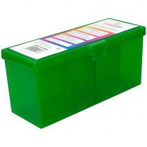 Пластиковая коробочка с четырьмя отсеками Gamegenic Fourtress (зелёная, на 320+ карт в двойных протекторах)