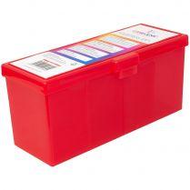 Пластиковая коробочка с четырьмя отсеками Gamegenic Fourtress (красная, на 320 карт в двойных протекторах)