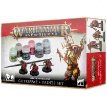 Age of Sigmar: Orruk Warclans Gutrippaz + Paints Set