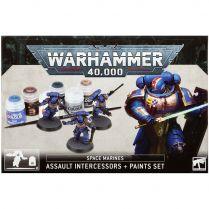 Space Marines Assault Intercessors and Paint Set