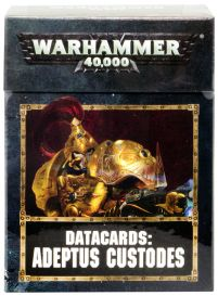 Datacards: Adeptus Custodes 8th edition