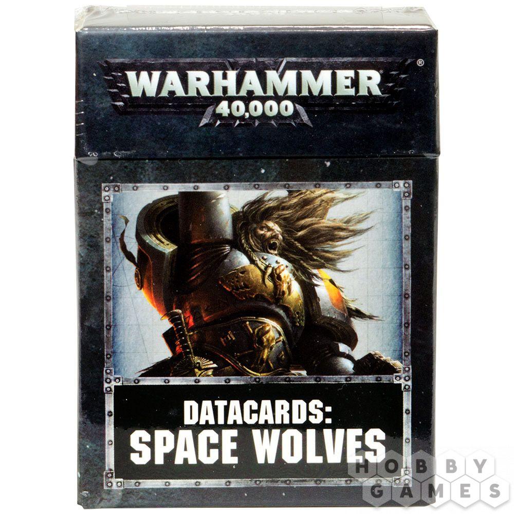 Warhammer 40,000 Datacards Space Wolves English
