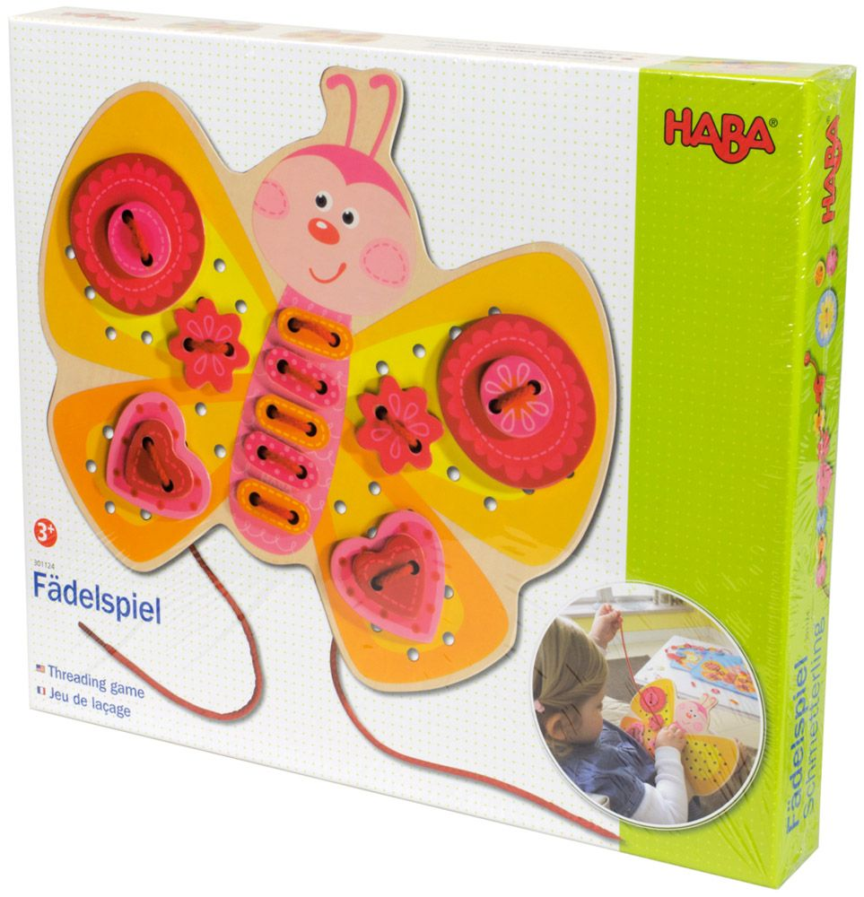 Купить Игра-шнуровка Бабочка , Настольная игра HABA