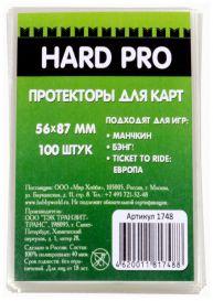 Протекторы HardPro (стандарт. 100 шт., для карт 56x87 мм) прозрачные