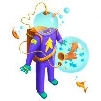 Акваланг для игры под водой