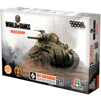 World of Tanks. Сборная модель танка M4 Sherman в масштабе 1:56 (2016)
